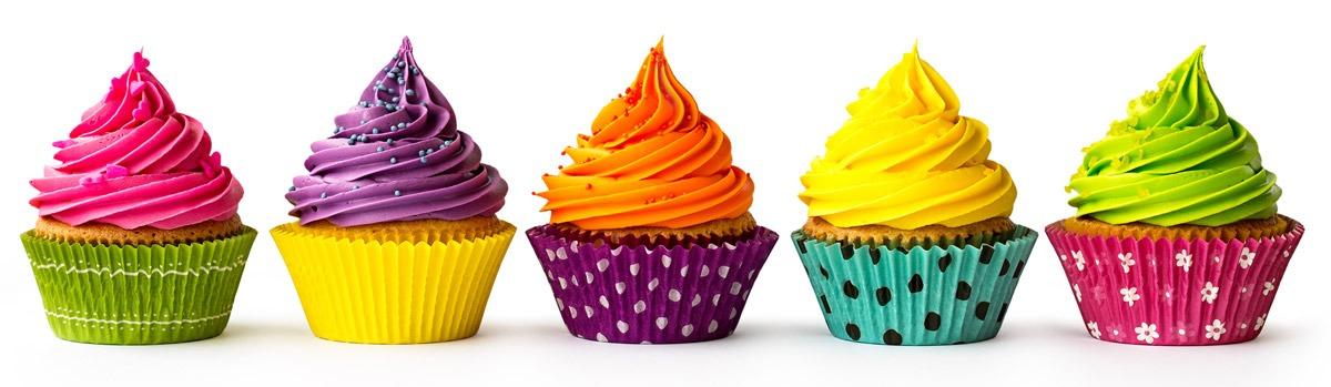 Química e Derivados - Muffins coloridos ficam mais atraentes